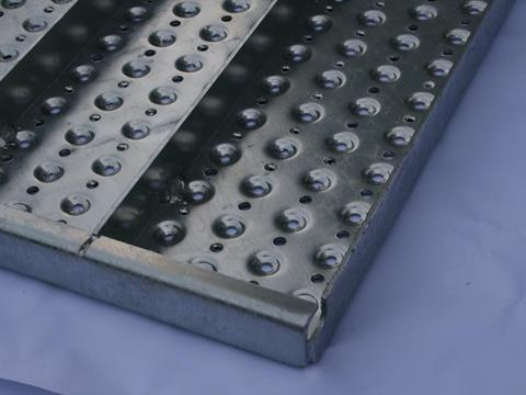 Perforated gratings
