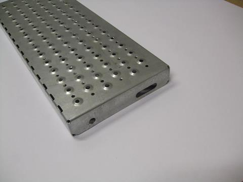 Perforated stair treads